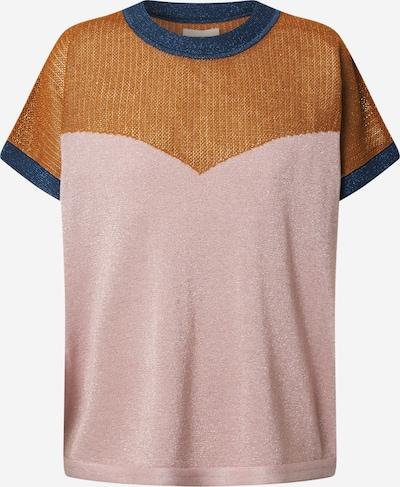 NÜMPH Pullover 'DARLENE' in royalblau / braun / rosa, Produktansicht