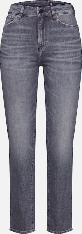 G-Star RAW Jean '3301 High Straight 90's Ankle Wmn' en gris, Vue avec produit