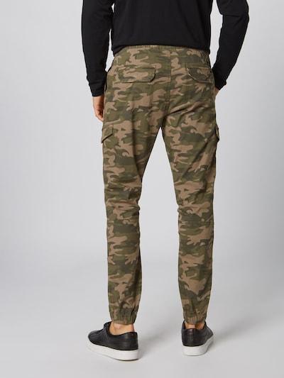 Laisvo stiliaus kelnės 'Levy' iš INDICODE JEANS , spalva - purvo spalva / rusvai žalia: Vaizdas iš galinės pusės
