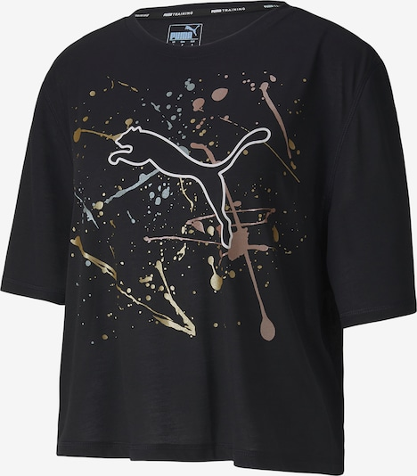 PUMA Functioneel shirt 'Metall Splash' in de kleur Goud / Rose-goud / Zwart, Productweergave