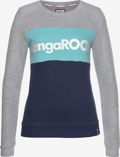 KangaROOS Sweatshirt in navy / hellblau / graumeliert / weiß, Produktansicht