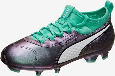 PUMA Sportschoen 'ONE 3 Illuminate FG' in de kleur Jade groen / Violetblauw, Productweergave