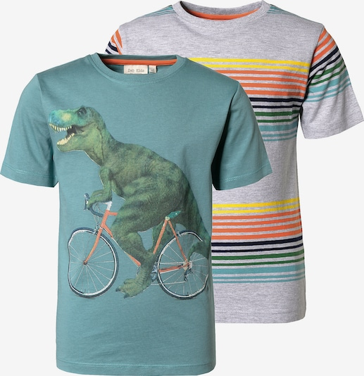myToys-COLLECTION T-Shirts in grau / grün: Frontalansicht