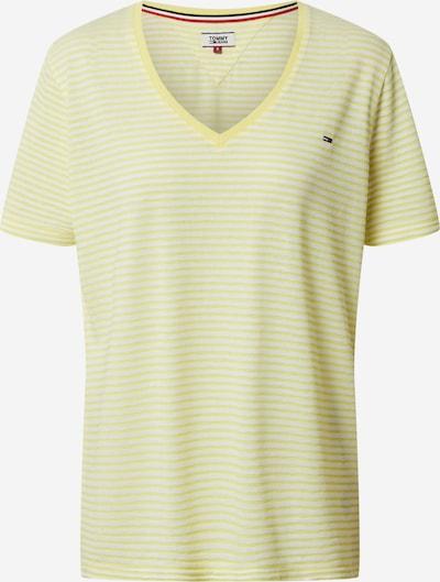 Tommy Jeans T-Krekls pieejami dzeltens / balts, Preces skats