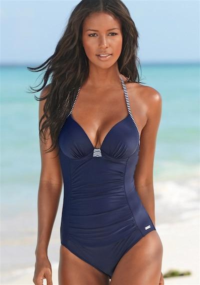 LASCANA Badeanzug in dunkelblau, Modelansicht