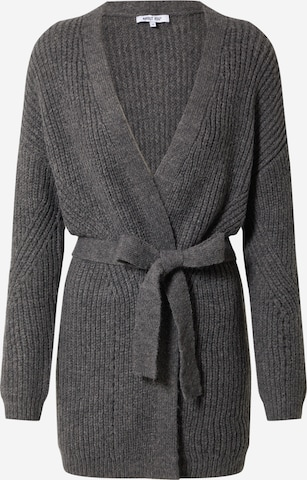 ABOUT YOU Knit cardigan 'Aleana' in Grey