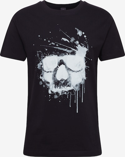 Mister Tee Tričko 'Waterpaint Skull Tee' - černá / bílá, Produkt