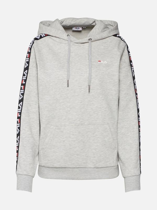 e17782f1692 FILA Sweatshirt 'CLARA Hoodie Sweat' in Grijs gemêleerd / Zwart / Wit |  ABOUT YOU