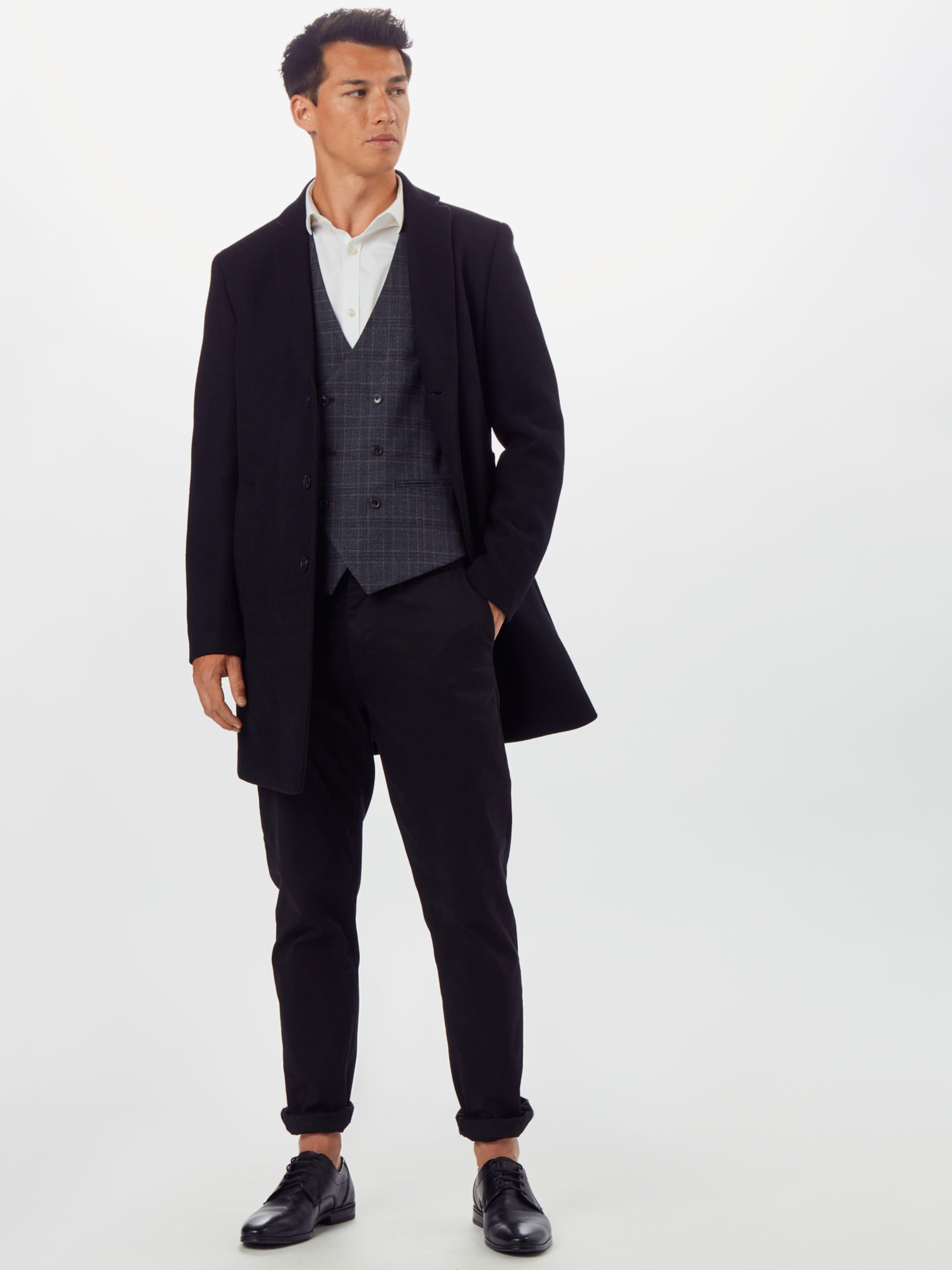 BURTON MENSWEAR LONDON Väst 'GREY RUSSET PRINCE OF' i grå