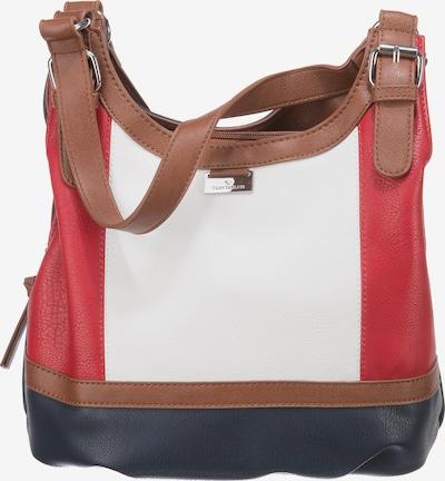TOM TAILOR Shopper torba 'Juna' u plava / crvena / bijela, Pregled proizvoda
