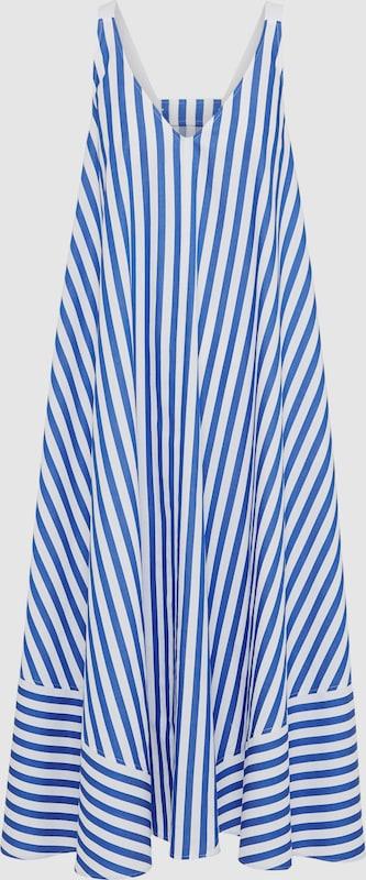 DRYKORN Kleid 'AIKA' in blau   weiß  Neuer Aktionsrabatt