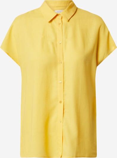 VILA Majica 'VILALINA S/L SHIRT/CAMP' | rumena barva, Prikaz izdelka