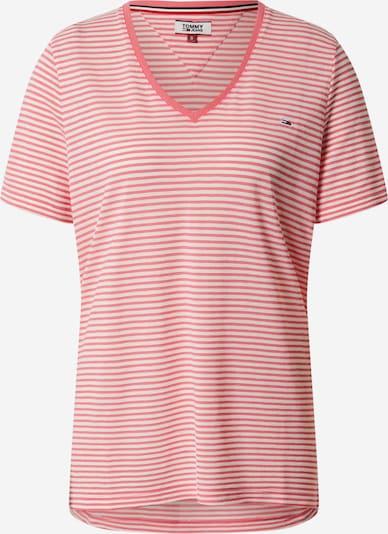 Tommy Jeans Koszulka w kolorze różowy / białym: Widok z przodu