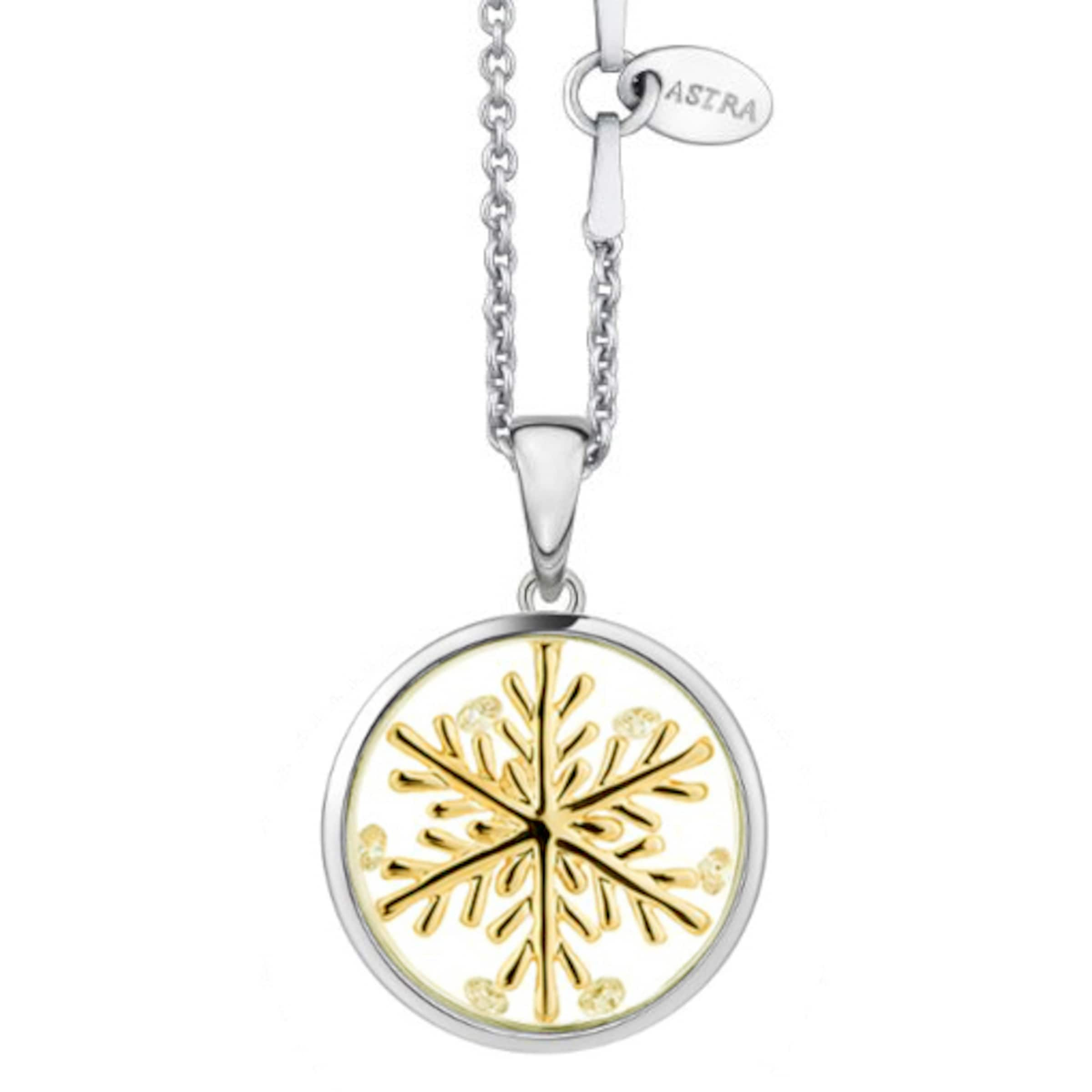 Astra Kette mit Anhänger 'LUCKY SNOWFLAKE' in gold / silber