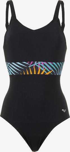 ARENA Badeanzug 'Arianna' in hellblau / orange / pink / schwarz, Produktansicht