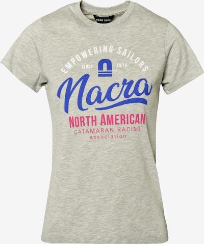 CODE-ZERO T-Shirt 'Nacra Empowering' in blau / grau / rot / weiß, Produktansicht
