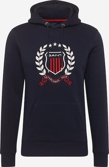 GANT Sweat-shirt en bleu foncé / pitaya / blanc, Vue avec produit