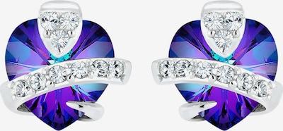 ELLI Ohrringe in blau / lila / silber, Produktansicht
