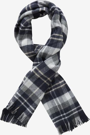 Cartoon Schal in dunkelblau / grau / weiß, Produktansicht