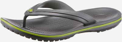 Crocs Zehentrenner 'Crocband Flip' in grau / apfel, Produktansicht