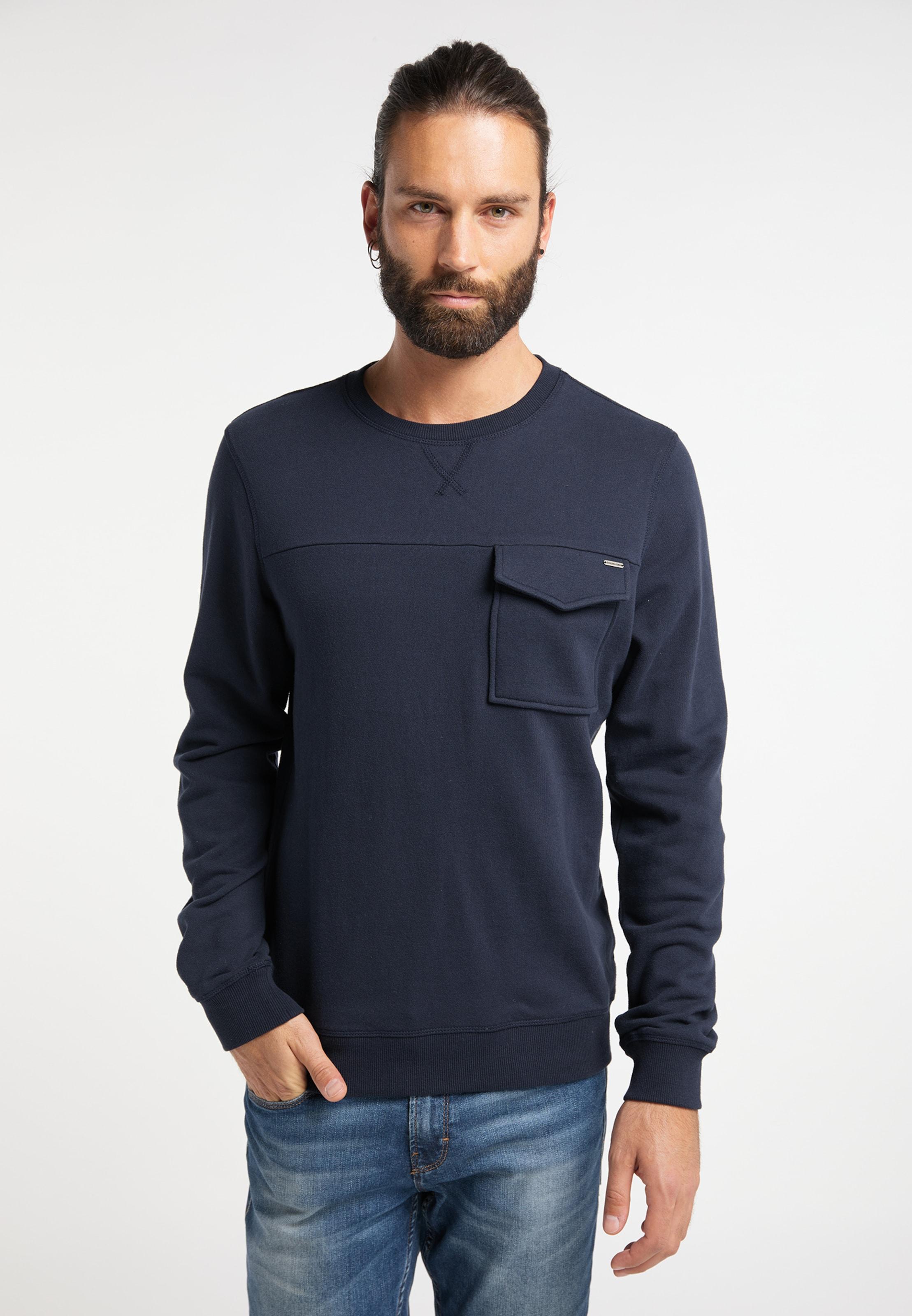 DREIMASTER Sweatshirt in marine Rundhals-Ausschnitt 4251686652939