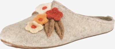 HAFLINGER Pantoffeln 'Fiori' in beige / hellorange / dunkelorange, Produktansicht