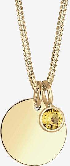 ELLI Kette 'Geburtsstein' in gelb / gold, Produktansicht