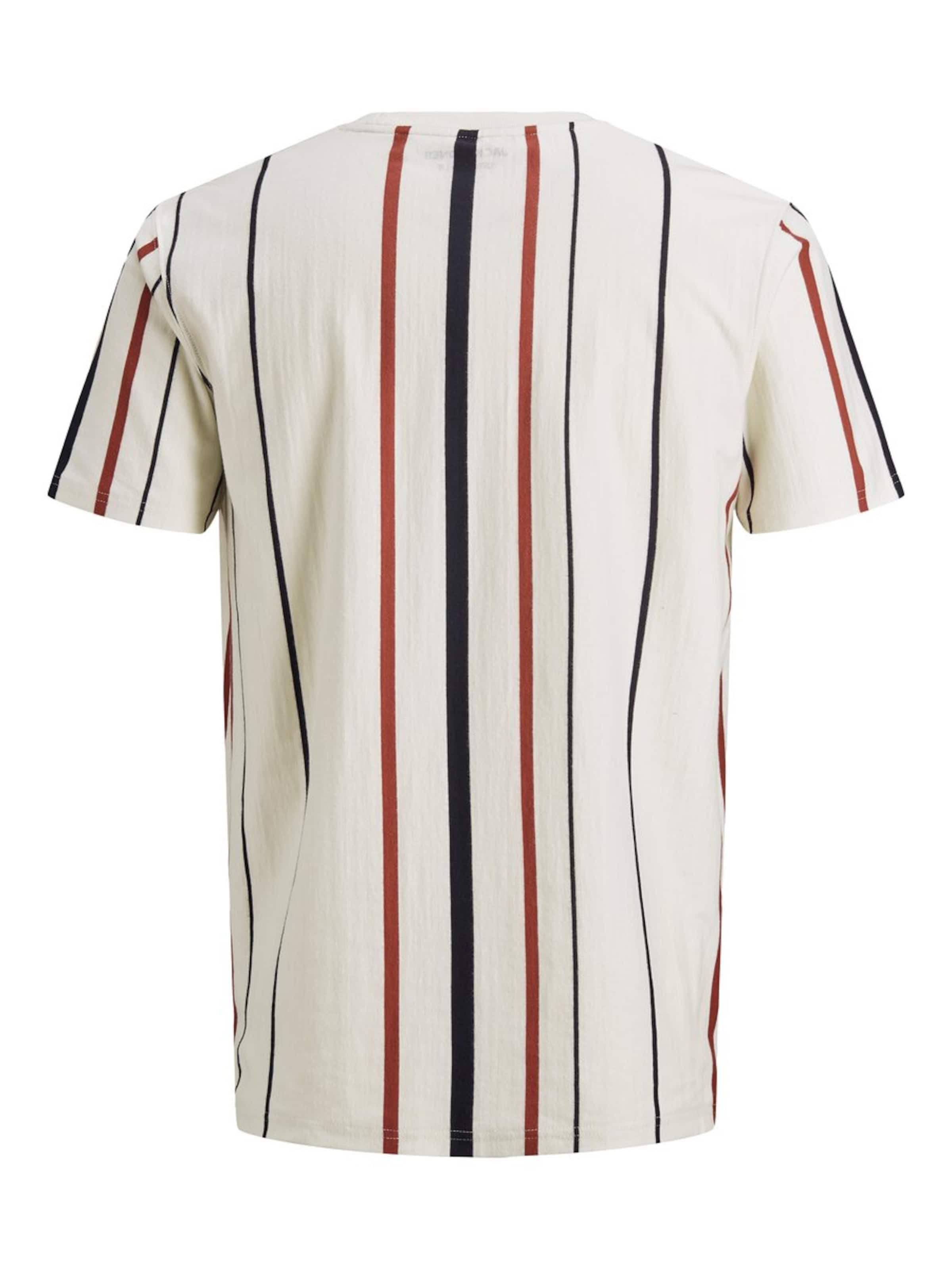 shirt En Jackamp; FoncéRouge Jones Blanc T Bleu Naturel jLSUzVpGqM