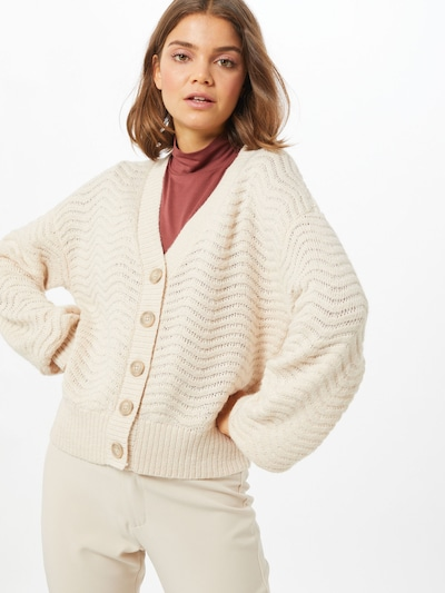 Y.A.S Knit cardigan 'Betricia' in Off white, View model