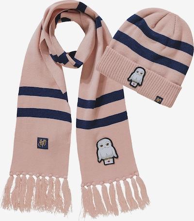Harry Potter Set: Mütze + Schal in dunkelblau / rosa, Produktansicht