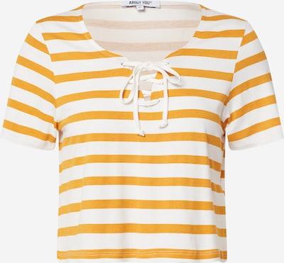 ABOUT YOU T-shirt 'Shirin' en moutarde / blanc, Vue avec produit