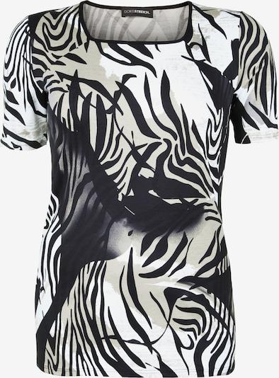 Doris Streich Shirt mit Karreeausschnitt in beige / schwarz, Produktansicht