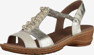 ARA Sandale in silber / weiß: Frontalansicht
