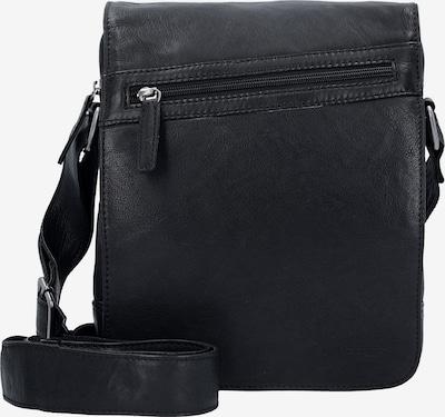 GREENBURRY Schoudertas 'Oily Tumbled' in de kleur Zwart, Productweergave
