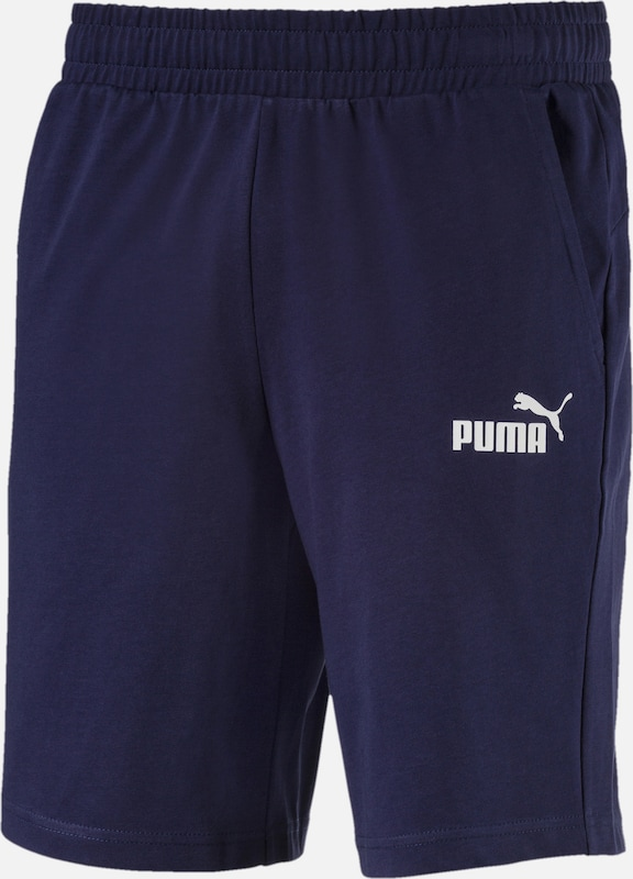PUMA Shorts 'Essentials' in nachtblau / weiß, Produktansicht