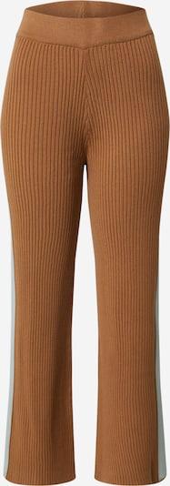 Pantaloni 'Block Knit Pant' Ragdoll LA pe maro cămilă / albastru deschis, Vizualizare produs