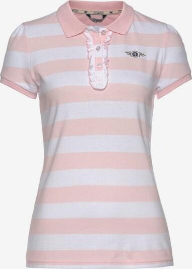 Tom Tailor Polo Team TOM TAILOR Polo Team Poloshirt in pink / weiß, Produktansicht