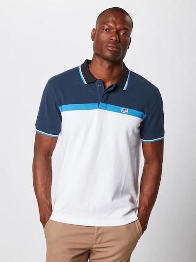 LEVI'S Poloshirt 'SPORTSWEARPOLO' in blau / weiß: Frontalansicht