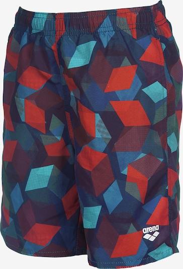 ARENA Badehose 'Playa' in nachtblau / himmelblau / rot / weinrot, Produktansicht