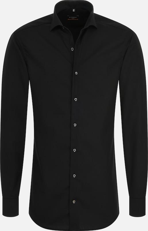 ETERNA Langarm Hemd SLIM FIT in schwarz  Großer Rabatt