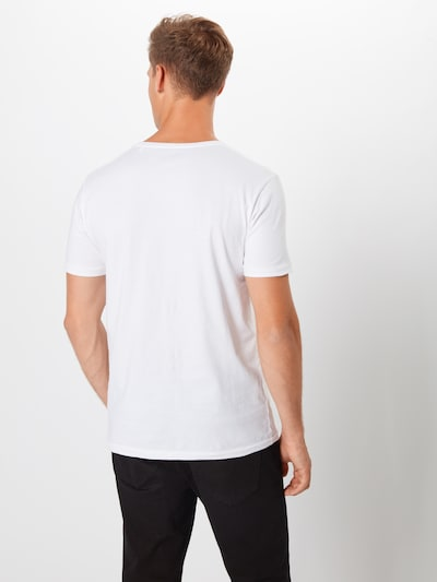 KnowledgeCotton Apparel T-Shirt en blanc: Vue de dos