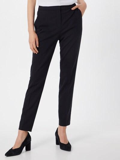 Kelnės su kantu iš HUGO , spalva - juoda: Vaizdas iš priekio