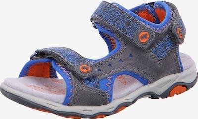 LURCHI Sandale in royalblau / graumeliert / mischfarben: Frontalansicht