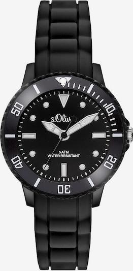 s.Oliver Quarzuhr 'SO-3297-PQ' in schwarz / weiß, Produktansicht