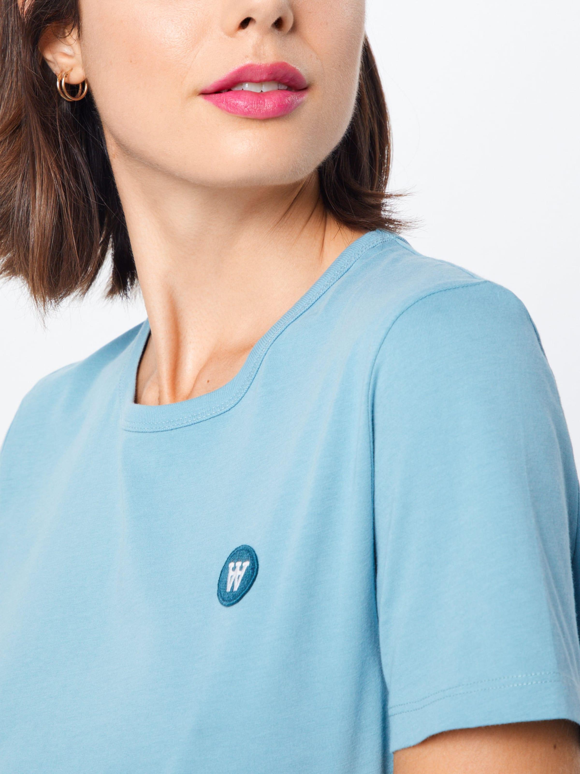 WOOD WOOD Póló 'UMA' kék színben