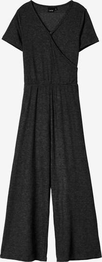 NAME IT Kurzärmeliger Rippdesign Jumpsuit in schwarz, Produktansicht