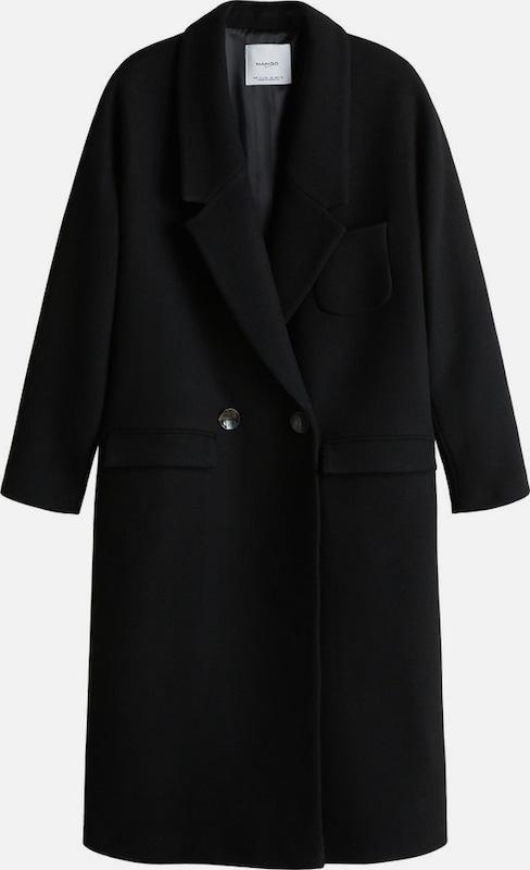 MANGO Mantel 'Madagasc' in schwarz  Markenkleidung für Männer und Frauen