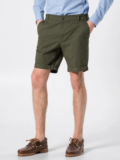 SELECTED HOMME Shorts in dunkelgrün: Frontalansicht