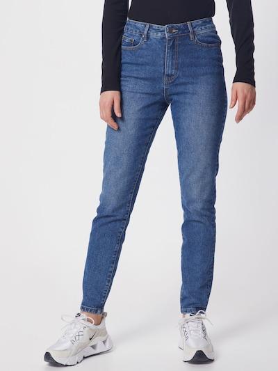 OBJECT Jeans 'OBJHANNAH HW JEANS OXI 107' in blue denim: Frontalansicht