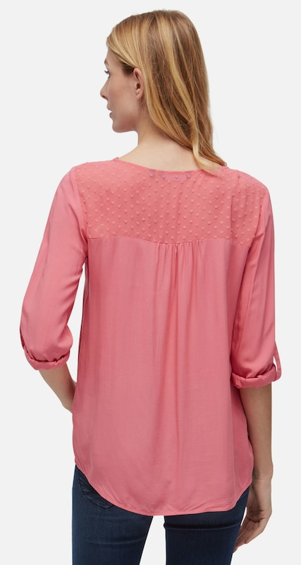 TOM TAILOR Shirt / Blouse Bluse mit transparentem Einsatz